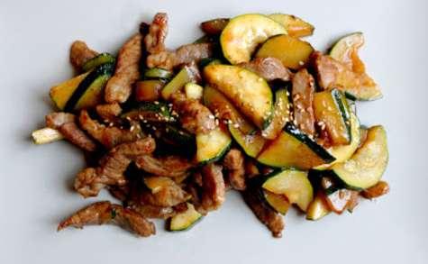 Sauté de Porc & Courgette - Sauce Yakitori