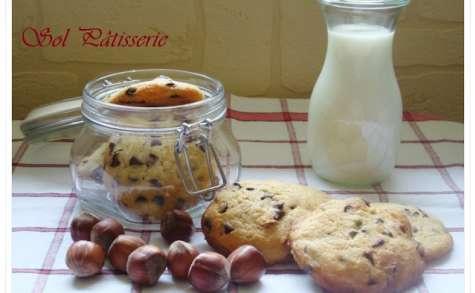Cookies très moelleux aux pépites de chocolat et aux noisettes