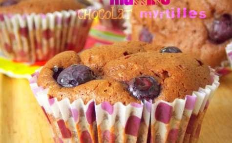 Muffins chocolat myrtilles