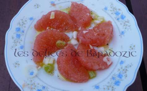 Carpaccio de pamplemousse rose