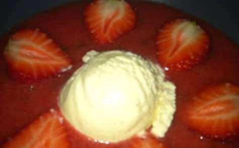 La soupe de fraises au gingembre confit de Vince