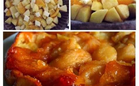 Tarte tatin pommes oranges