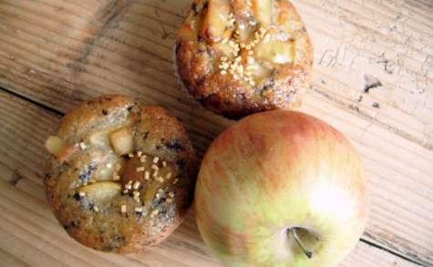 Muffins façon straciatella et pommes caramélisées