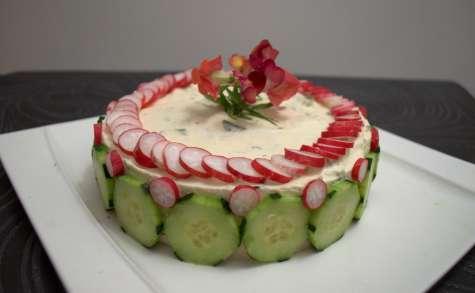 Cheesecake sans cuisson à la mère Loik et crème d'artichaut