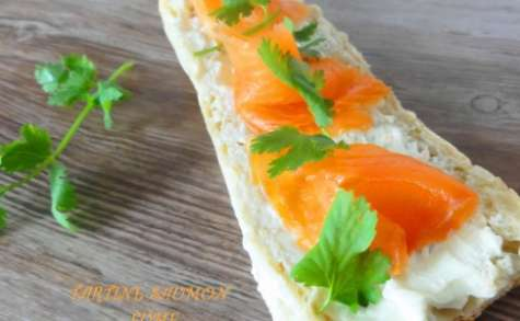 Tartines saumon fumé