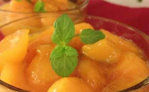 La petite nage caramélisée de melon tiède aux parfums d'orange