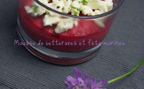 Mousse de betteraves et fêta marinée