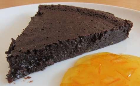 Fondant au chocolat noir avec un twist d'orange