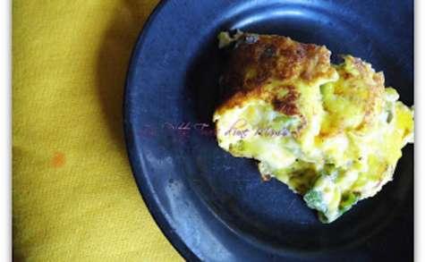 Omelette à la courgette et à la Vache Qui Rit