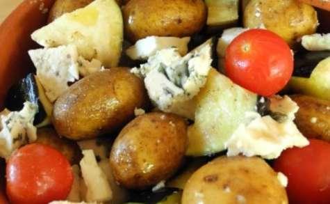Cocotte express d'aubergines et de pommes de terre au Roquefort Papillon