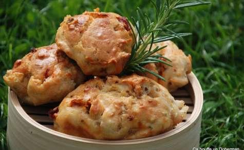 Madeleines au Roquefort, Tomates séchées et Romarin