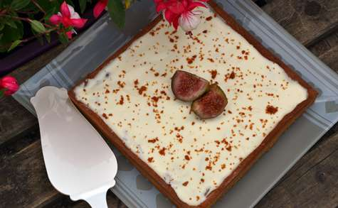Tarte figues, chocolat blanc et spéculoos