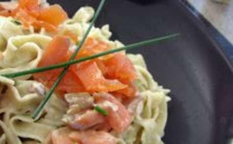 Tagliatelles saumon et thon