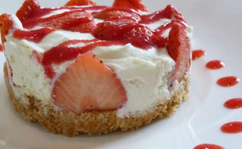 Cheesecake aux fraises et wasabi