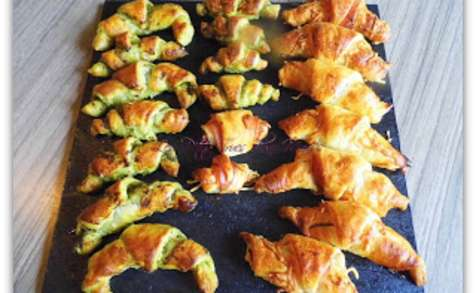 Minis-croissant au pesto et/ou jambon fromage