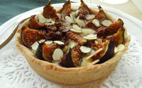Tartelettes amandines aux figues et au sirop de cactus vanillé