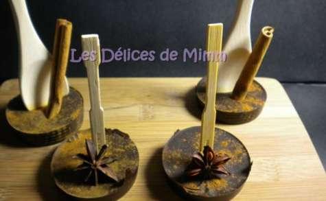 Bâtons de chocolat pour chocolat chaud aux épices