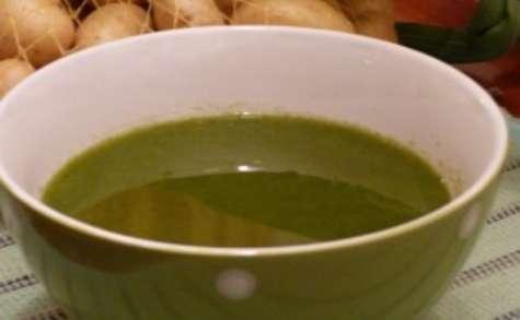 Soupe de vert de poireaux