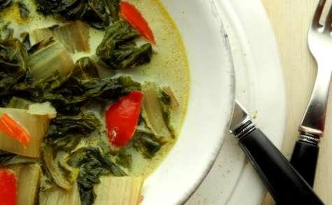 Curry végétarien de blettes