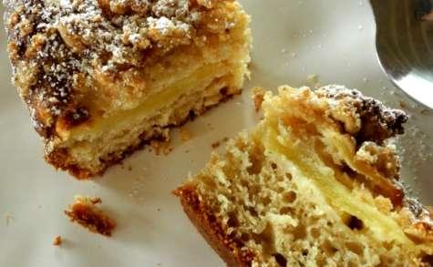 Gâteau crumble à la pomme et à la noisette