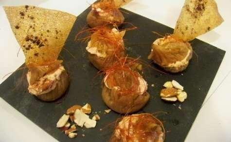 Figues confites farcies à la mousse de foie gras