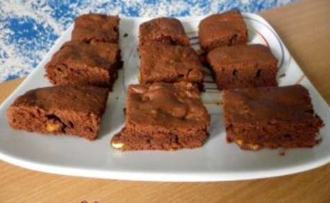 Brownie aux écorces d'orange confite