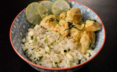 Poulet au curry et lait de Coco en 20min