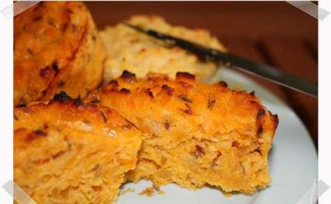 Mini-flans de carottes et abricots au cumin