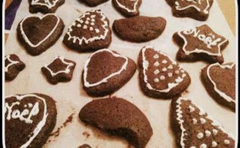 Christmas cookies au chocolat