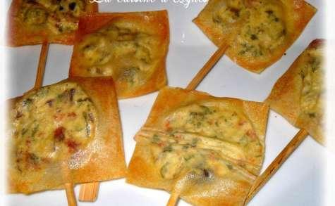 sucettes apéritives au fromage