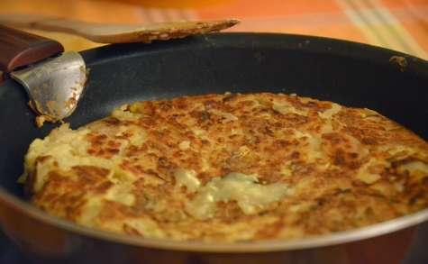 Galette de pommes de terre façon raclette