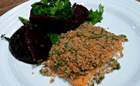 Omble chevalier au citron et salade de betteraves