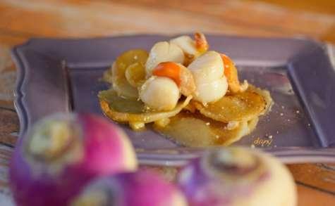 Noix de St-Jacques aux navets au citron confit et poivre de Sichuan