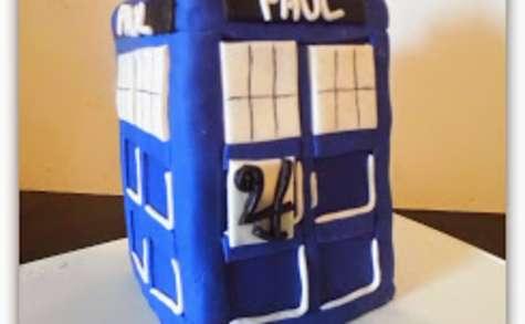 Le gâteau Tardis (Doctor Who)
