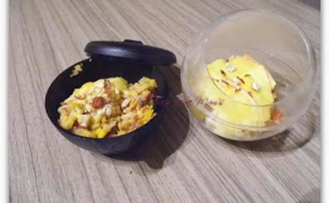 Gratin de riz, citrouille, noisettes et fromage à raclette