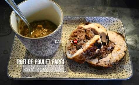 Roti de poulet farci au foie gras cuisson sous vide à la vapeur