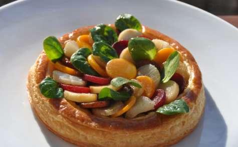 La tarte feuilletée aux légumes d'hiver