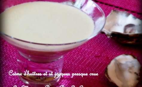 Crème d'huîtres et Saint Jacques pochées