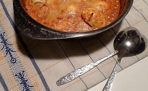 Oeufs durs gratinés à la tomate