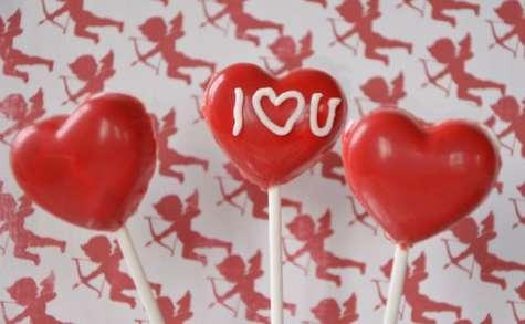 Sucettes pour la Saint Valentin