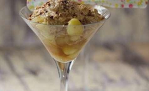 Pommes fondantes et mousse au caramel salé