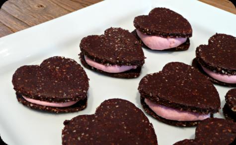 Biscuits sandwichs spécial St-Valentin