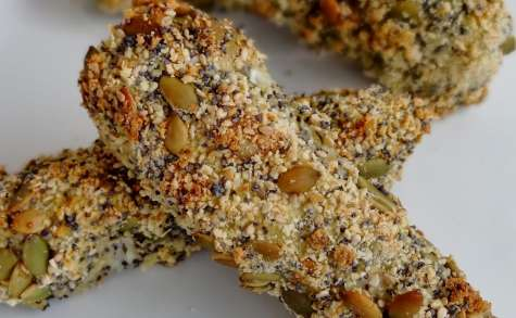 Bâtonnets d'églefin panés aux graines