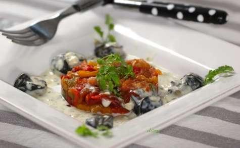 Escargots à la crème de persil, biscaïenne de légumes