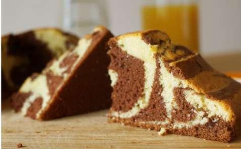 Zebra cake vanille au chocolat