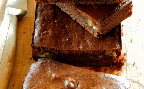 "Brownie bio chocolat & azukis, version ""SANS"""
