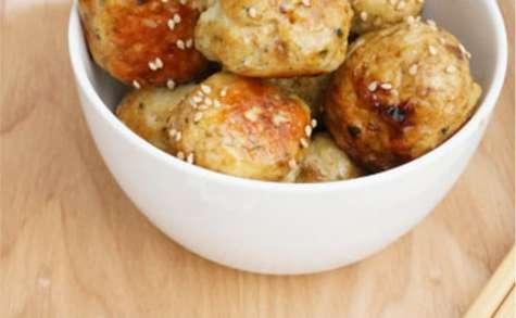 Boulettes de poulet au sésame et teriyaki