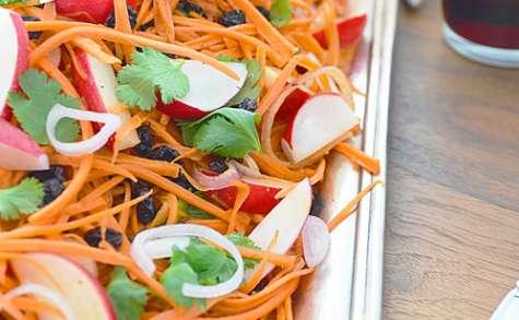 Salade de Carottes avec Vinaigrette au Cumin et Miel