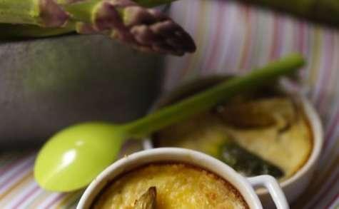 Petits clafoutis aux asperges