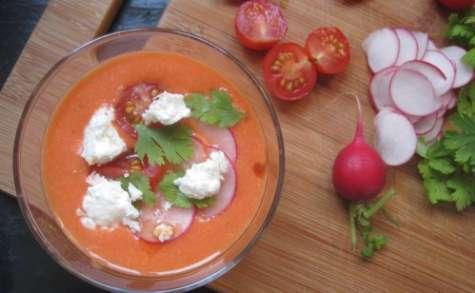 Gaspacho pastèque et tomate